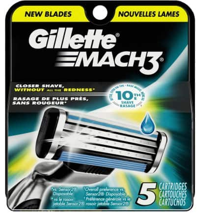 Gillette Mach 3 Refills 5 Count  $7.76