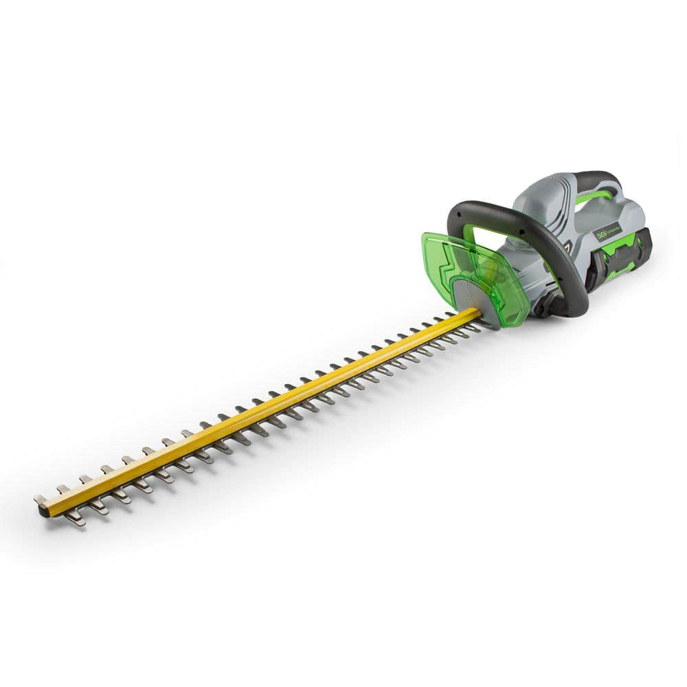 EGO 24 in. 56-Volt Lithium-Ion Cordless Hedge Trimmer Kit with 2.5Ah Battery $149.00 @ Home Depot