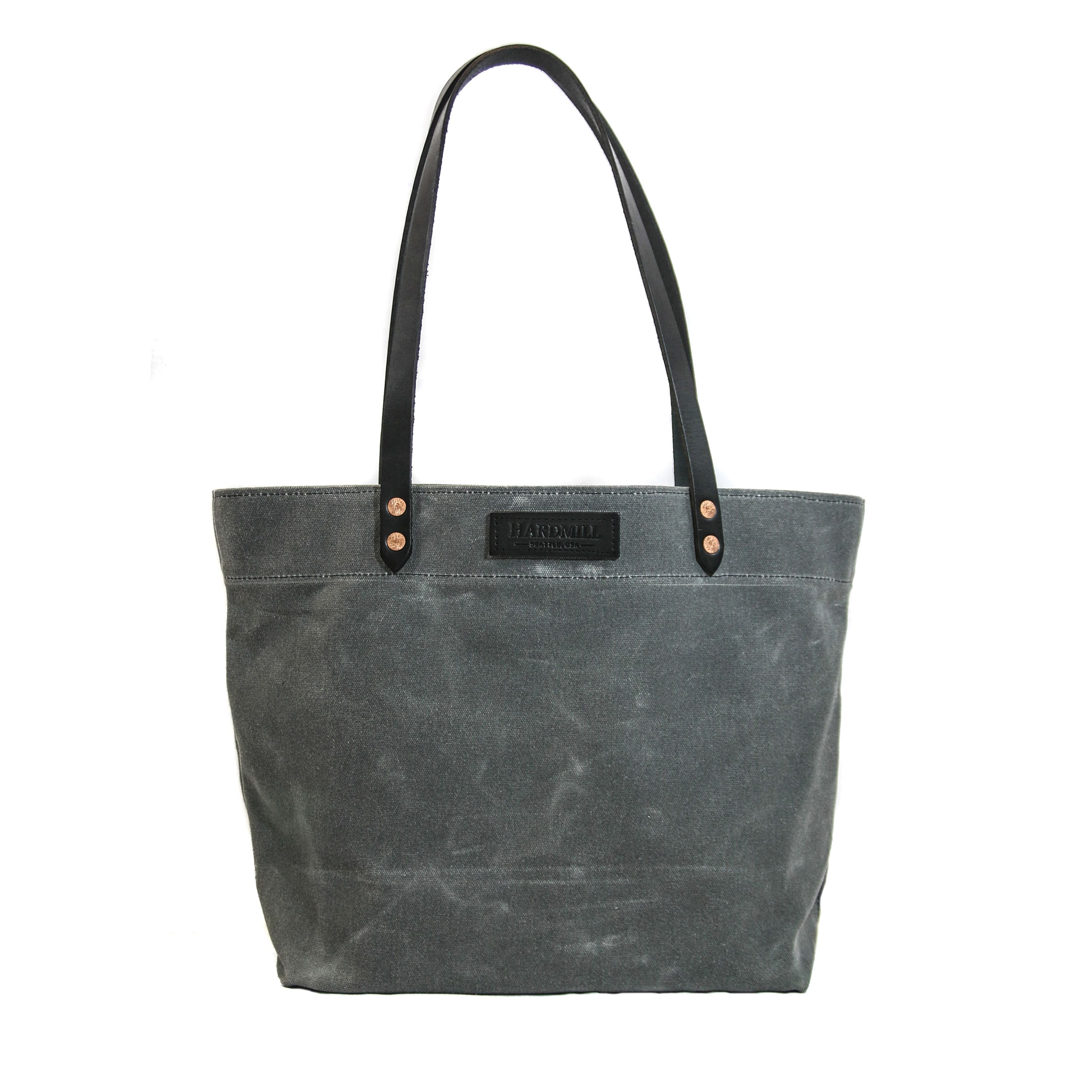 Hardmill waxed canvas/leather totes 12-hr BOGO sale. Made in USA.