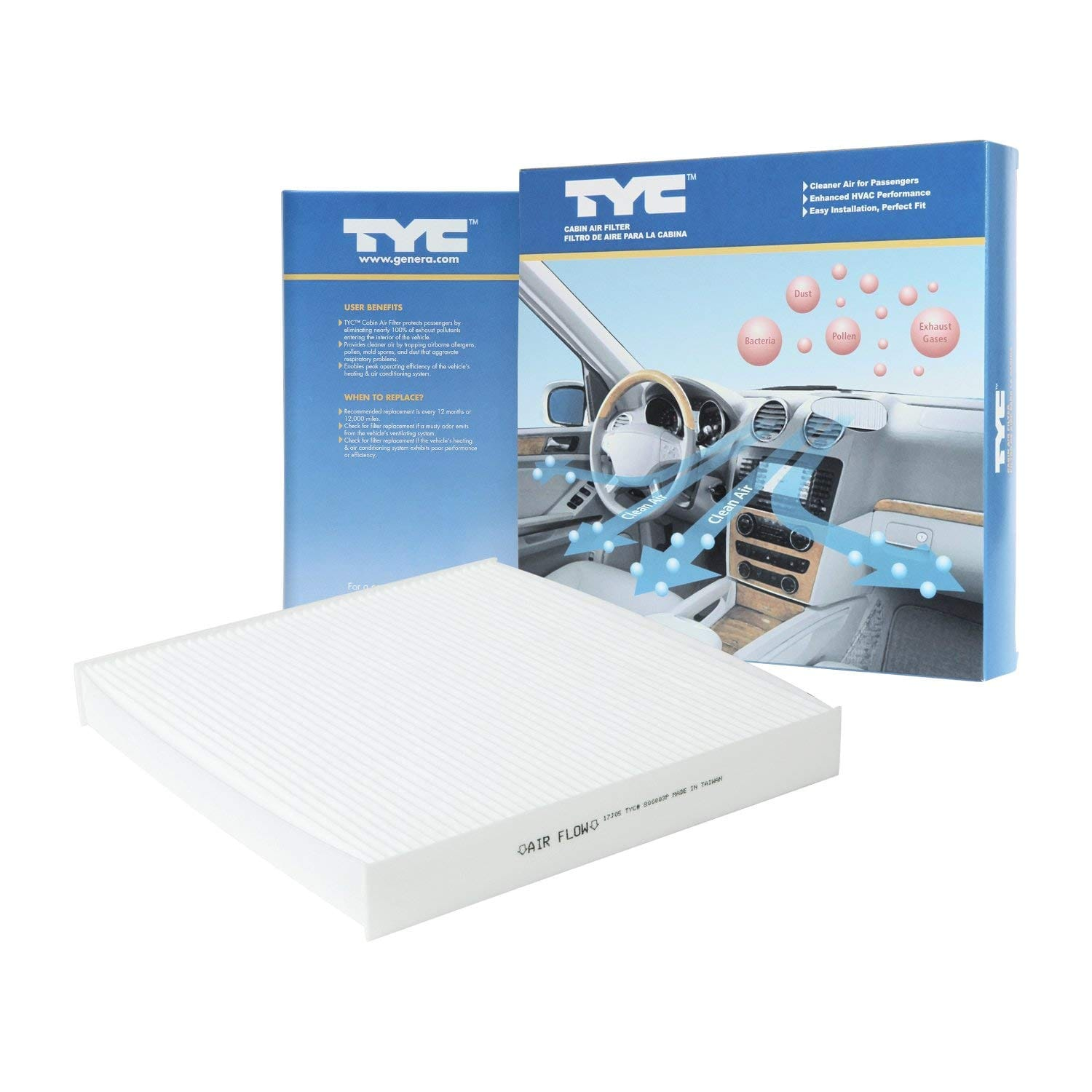 TYC 800003P Honda Replacement Cabin Air Filter $4.90