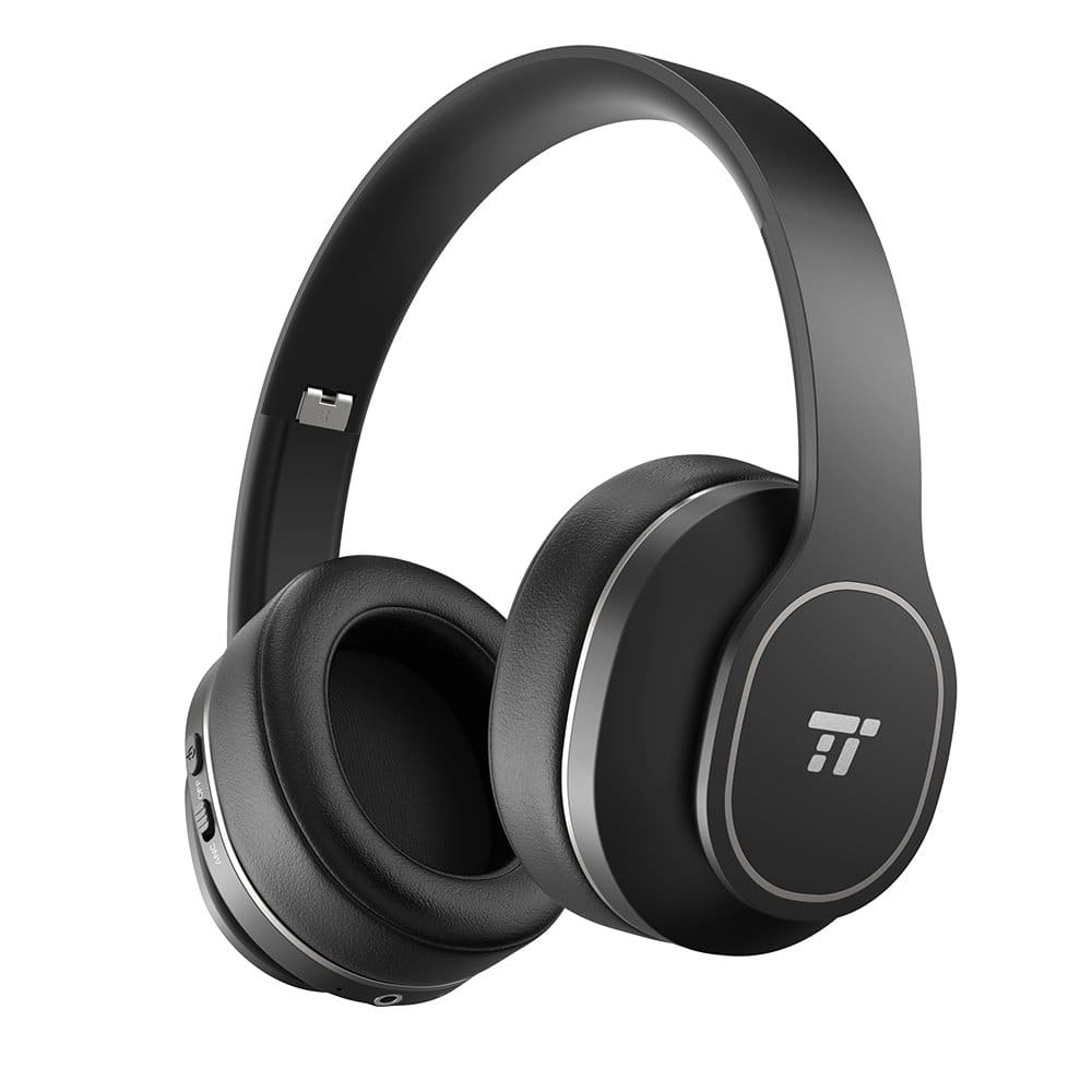 TaoTronics Active Noise Cancelling Bluetooth Headphones with Soft Ear Pads & 24 Hour Playtime, Foldable $26.99