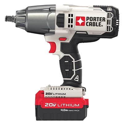 Porter Cable 20V 1/2'' Cordless impact wrench w/battery and charger $129.99 A/C at True Value Hardware