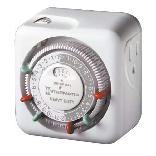 Intermatic TN311 15 Amp Timer for Indoor Lights and Decorations, Grounded [1 Pack] $8.33
