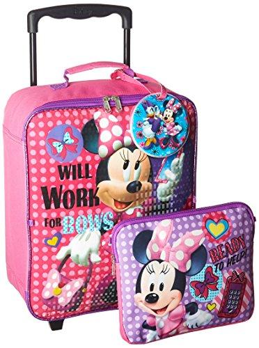 Disney Girls' Minnie 3 Pc Luggage Set, Pink $22.99
