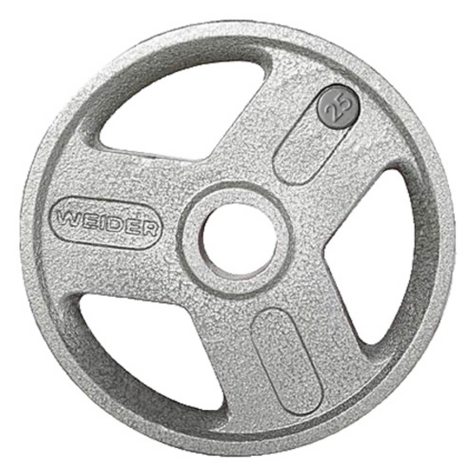 Weider-Olympic-Hammertone-Weight-Plate-with-3-Spoke-Design various 45 lbs $45