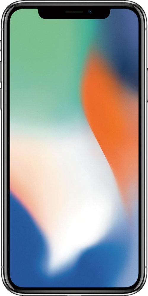 Apple - iPhone X 64GB - Silver (MQA62LL/A) $749.99