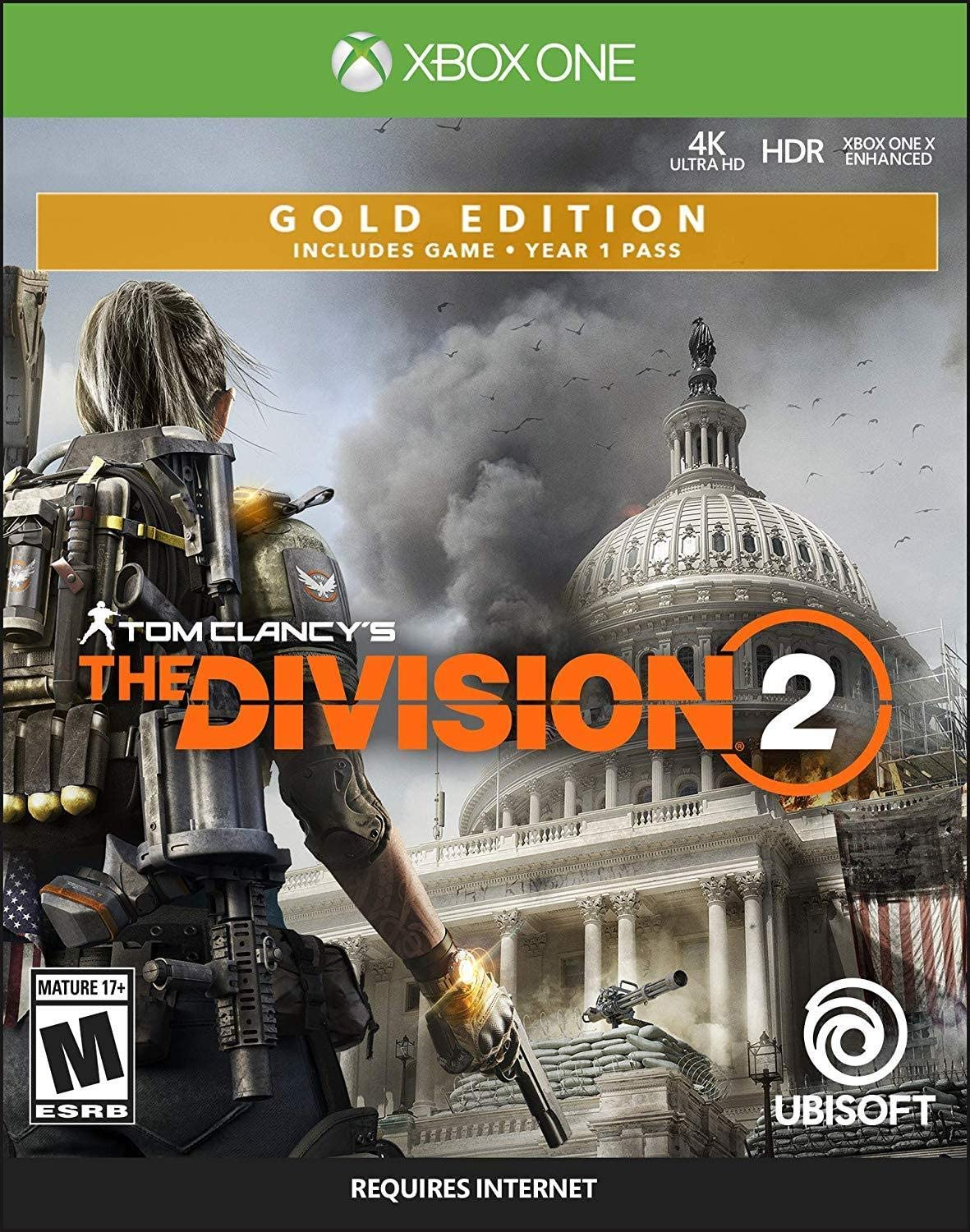 Tom Clancy's The Division 2 Steelbook Gold Edition Xbox One $18.97