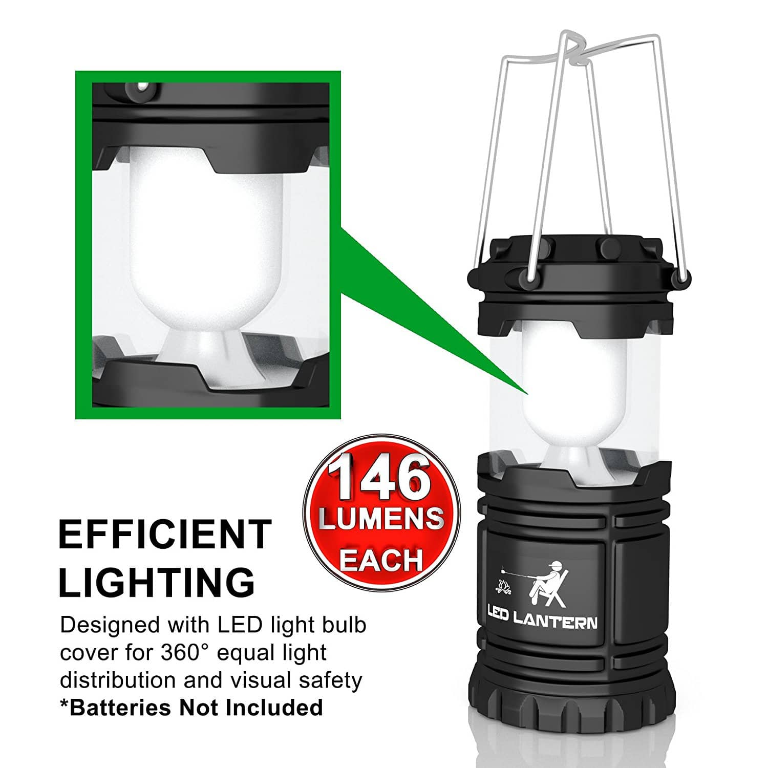 MalloMe LED Camping Lantern Flashlights Camping Gear Accessories Equipment - Great for Emergency, Tent Light, Backpacking, 4 Pack Gift Set $15.99