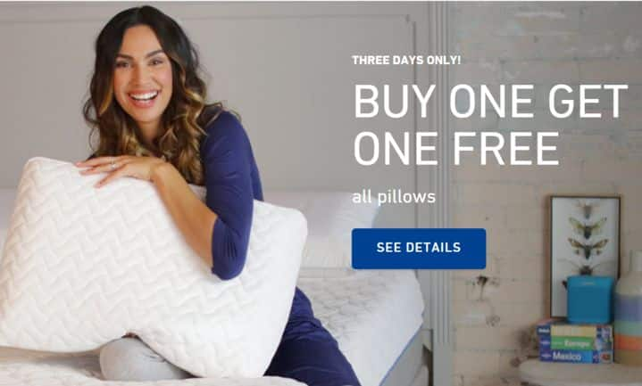 Tempur-Pedic  Buy One Get One FREE Pillow - 3 DAYS ONLY