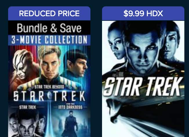 Star Trek Franchise Sale - VUDU - Ultraviolet - Digital HDX