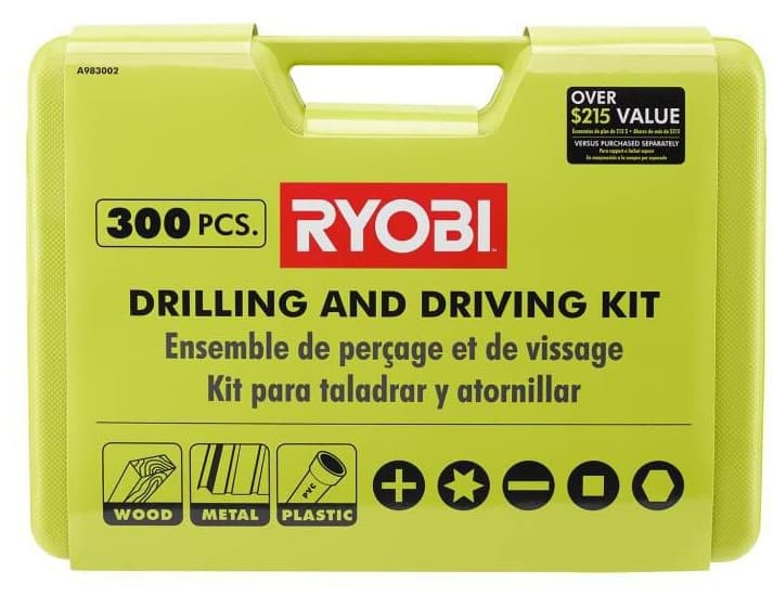 Ryobi 300 Piece Drill and Drive Kit - $47.20 or less + Free Shipping at HomeDepot.com