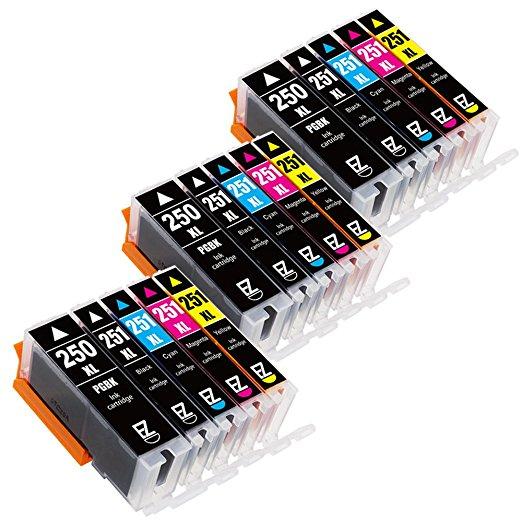 15 Pack E-Z Ink Canon PGI-250XL CLI-251XL Compatible Ink Cartridges for $10.94 + FS w/ Prime @Amazon