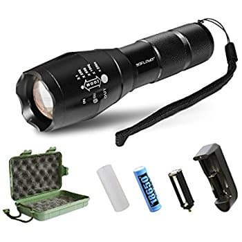 LED Tactical Flashlight with rechargeable battery. Amazon Lightning Deal $10.99