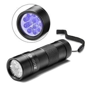 UV Light Zookki 12-LED Lights Pet UV Urine &Stain Detector Blacklight/Flashlight for $2.99 ($5 Off) AC + Free Shipping @Amazon