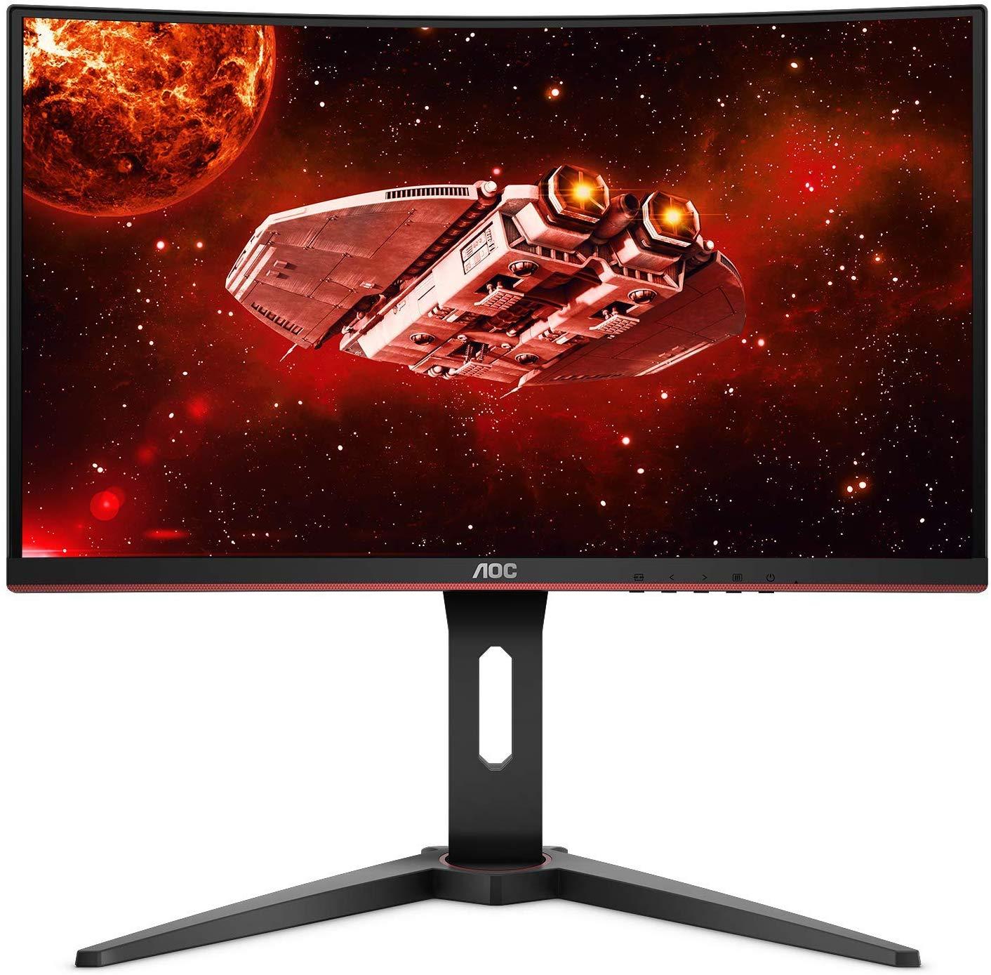 "AOC CQ27G1 27"" Curved Frameless Gaming Monitor QHD/2K, 1ms, 144Hz, FreeSync, DisplayPort/HDMI/VGA, Height adjustable, 3-Year Zero-Bright Dot $212.49"