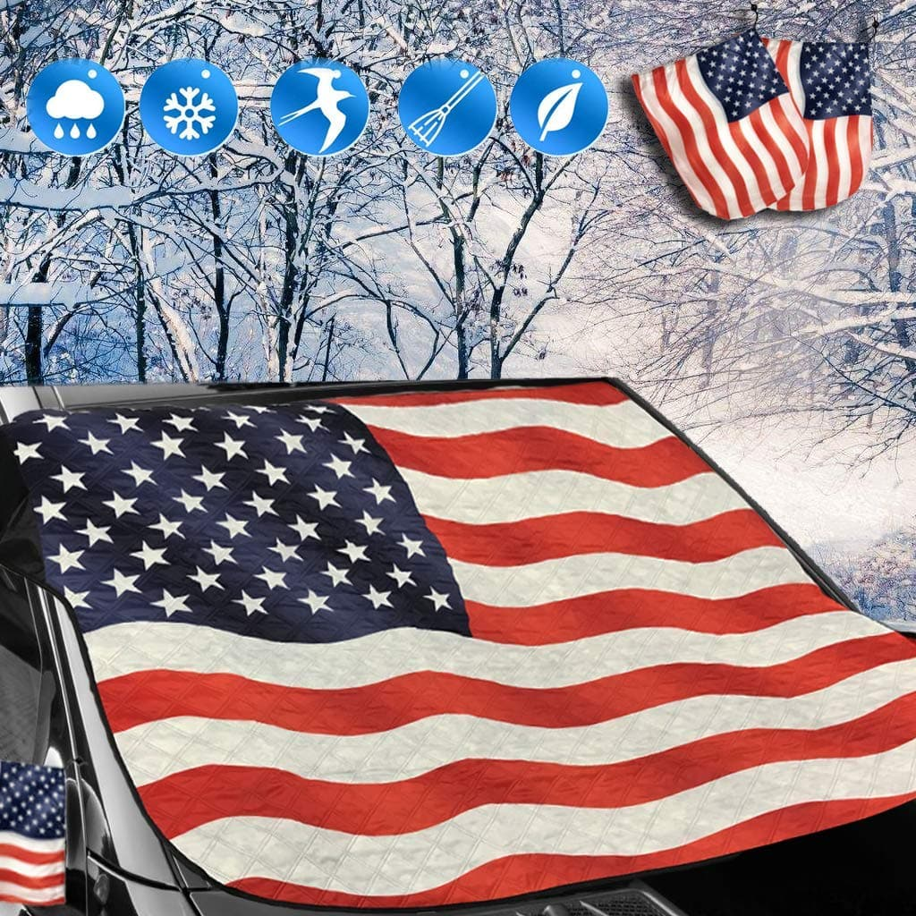 Windshield Snow Cover and Mirror Covers for Storage Ice Protector $7.49 + FSSS
