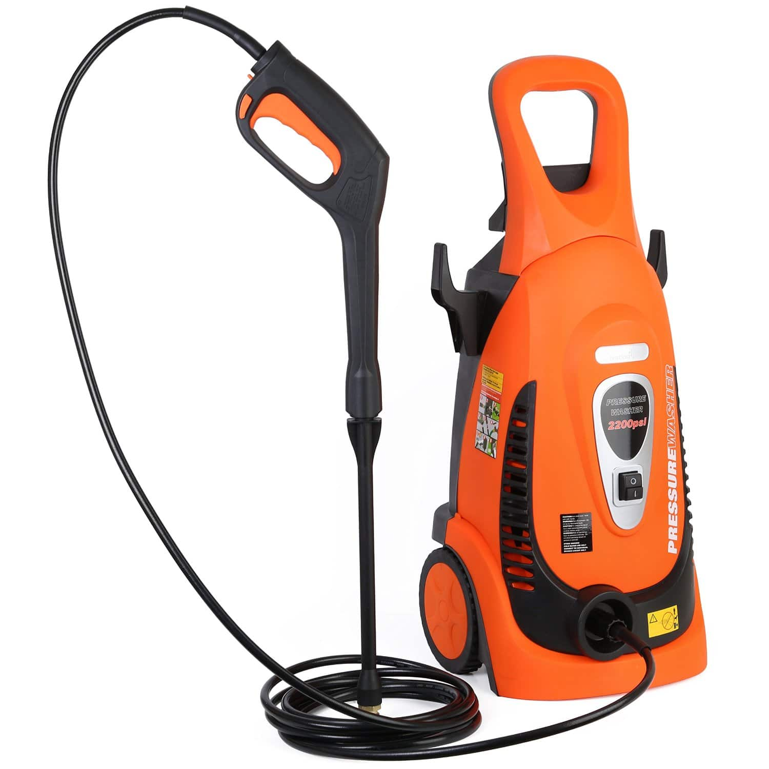 Ivation Electric Pressure Washer 2200 PSI 1.8 GPM with Power Hose Nozzle Gun and Turbo Wand for $129.95 + FSSS @ Amazon