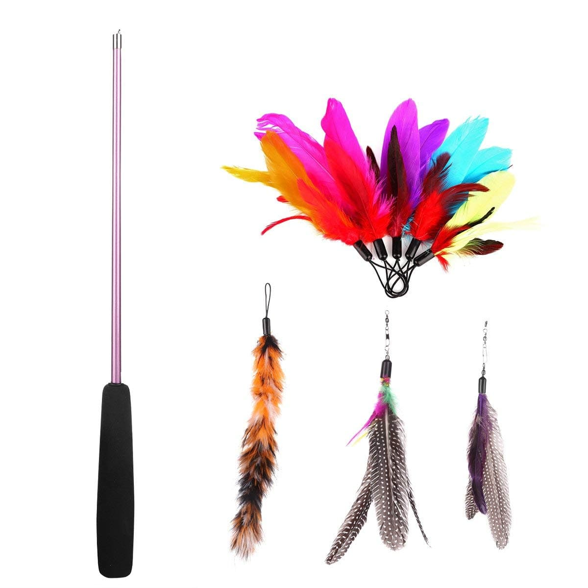 8 Pcs Assorted Feather Cat Toy $5.5