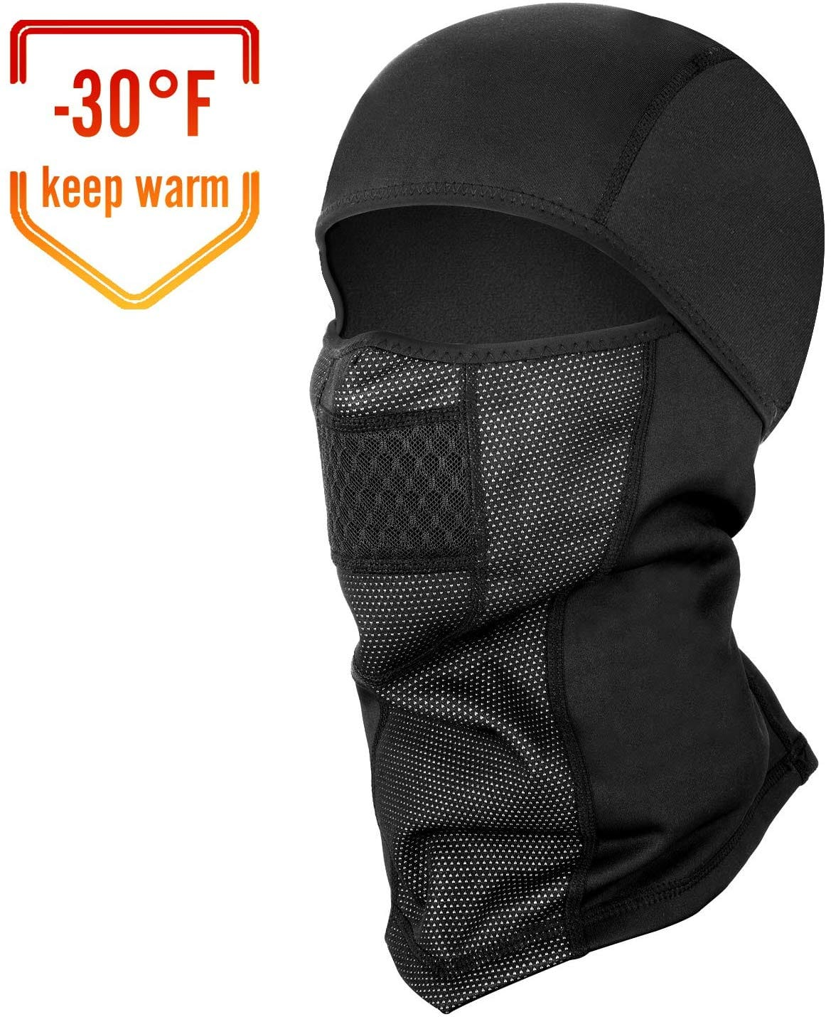 Ski Mask, Thermal Full Face Mask for Winter Sports Skiing, Snowboarding, Motorcycling, Windproof Ski Hood (Black) - $8.39