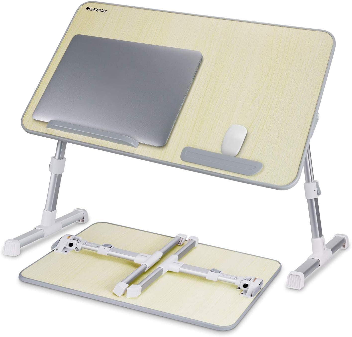 Laptop Desk for Bed, Height and Angle Adjustable, for Both Right Handed and Left Handed People -  $22.79