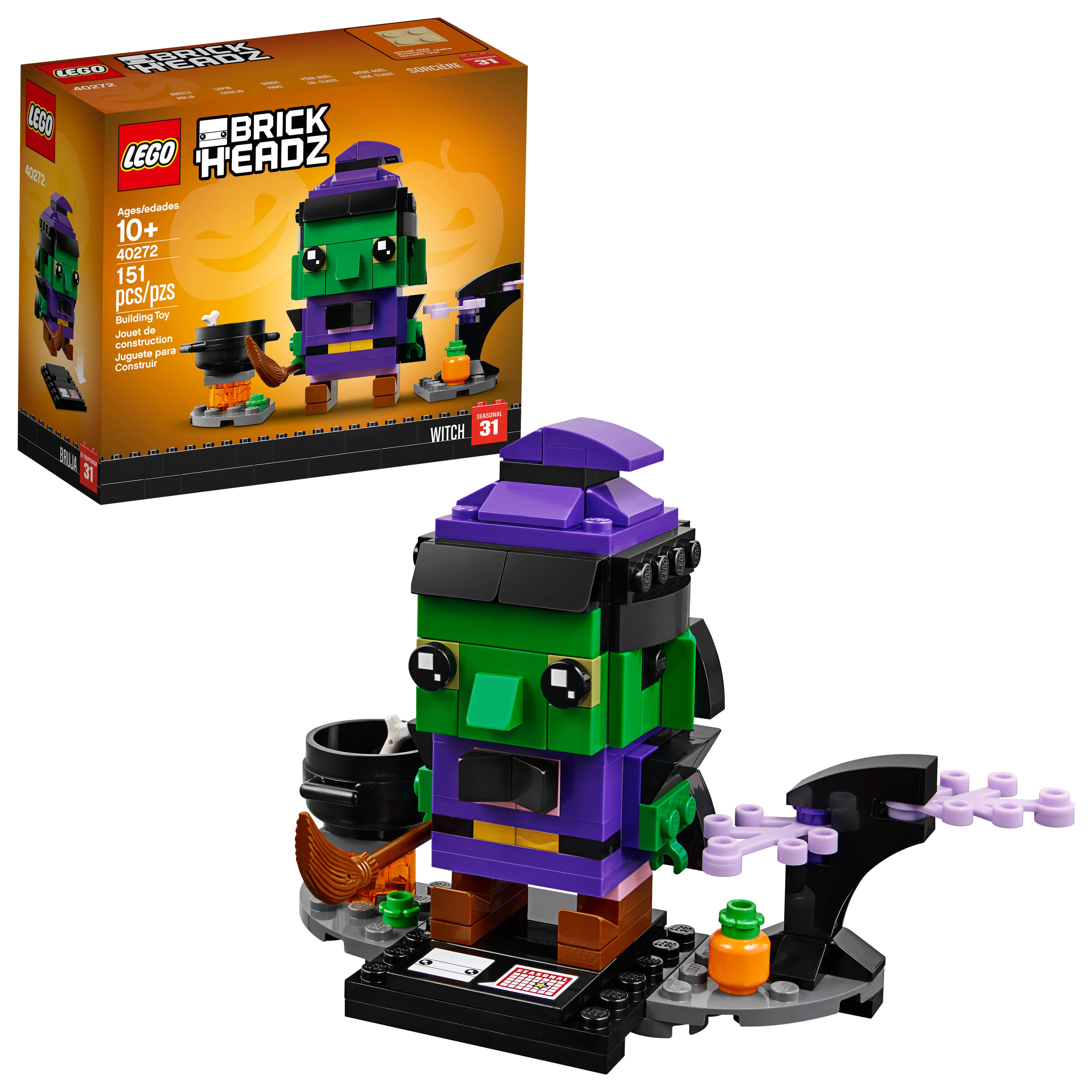 Lego BrickHeadz Halloween Witch 40272 ~ Walmart ~ $5.99 w/free store pick up. Amazon $5.99 also.