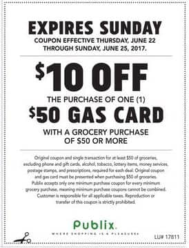Publix Gas Card Offer is back!