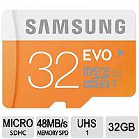 TigerDirect Deal: Samsung EVO Class 10 UHS-1 Memory Cards: 64GB microSDXC Card w/ Adapter $29.99, 32GB microSDHC Card w/ Adapter $14.99 *Back Again*
