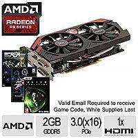 TigerDirect Deal: MSI Gaming Twin Frozr Radeon R9 270 2GB 256-Bit GDDR5 Video Card + 3 AMD Gold Reward Games for $129.99 AR or $119.99 AR/AC