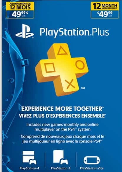 PlayStation Plus 12 month membership - Electronic Code [Costco.ca Online] - $35.25 USD
