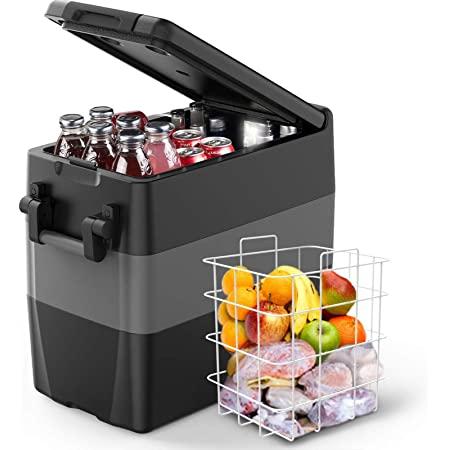 12/24V DC and 110-240 AC, 53 Quart (50L), Portable Refrigerator Freezer $240