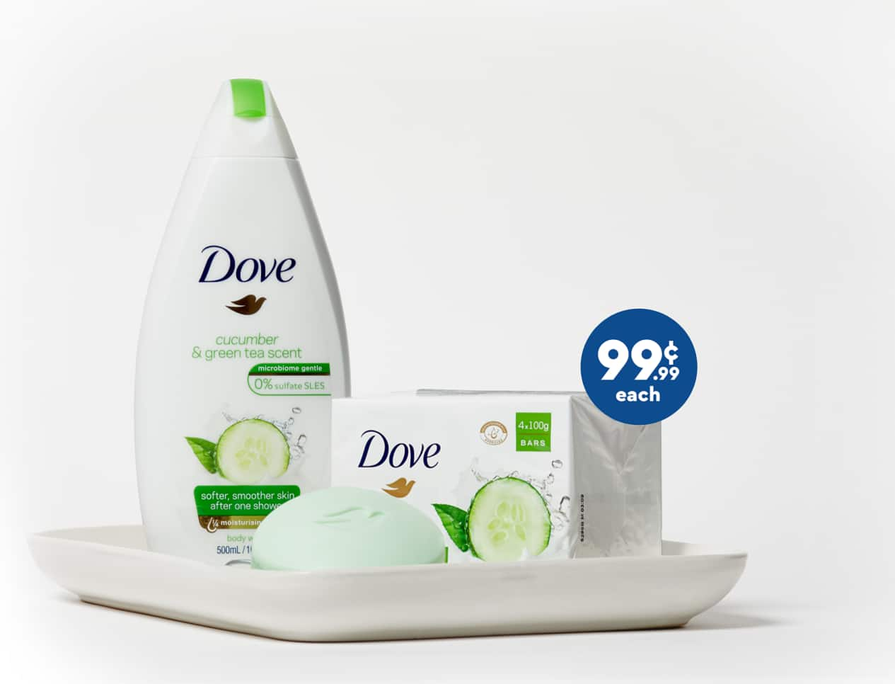 today only: Dove body wash $1 at 99c store
