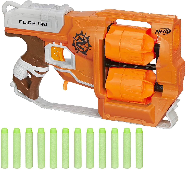 Amazon Prime Nerf Zombie Strike FlipFury Blaster [free shipping w/ prime] $5.49