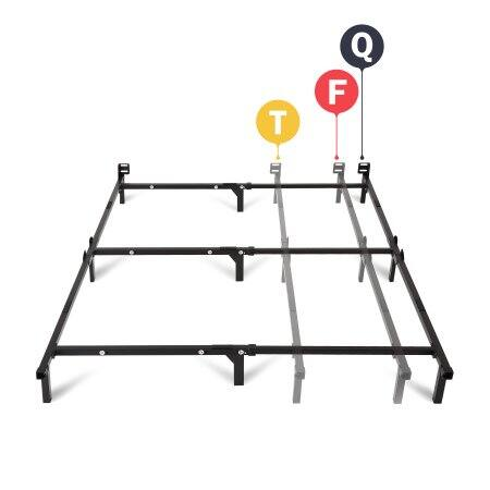 """Wal-Mart: Mainstays 7"""" Adjustable Metal Bed Frame, Easy No-Tools Assembly, Twin/Full/Queen. $19.00 [w/store pickup]"""