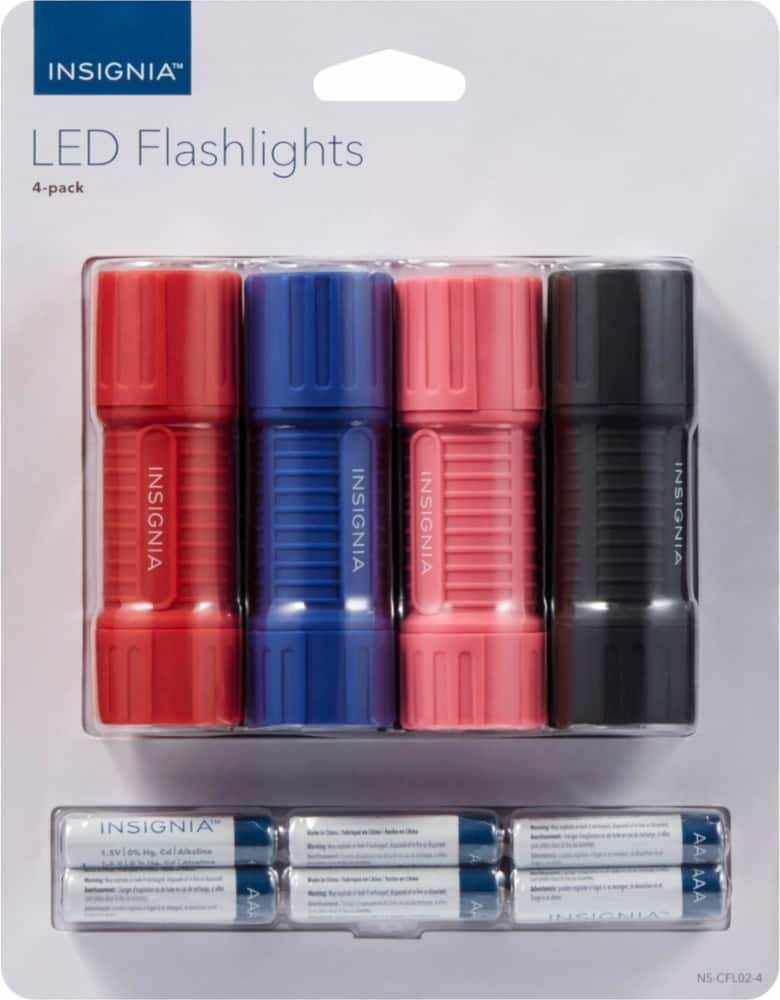 best buy insignia- LED Flashlights (4-Pack) $6.99 shipped