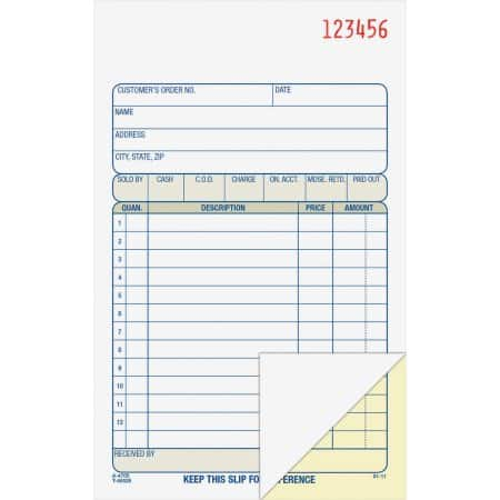 Wal-Mart: Adams Carbonless Sales Book $0.82 each (minimum 2 quantity required)