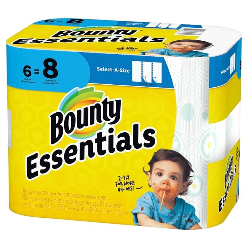 office depot: 6 pack Bounty Essentials  paper towel $5 or  $4.50 [with subscription] free store pickup