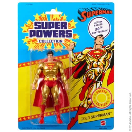 Matty Collector DC Universe Super Powers Gold Superman only $15 + FS Or Matty DC Universe Super Powers Other Figures $13.99 + $4.99 Shipping