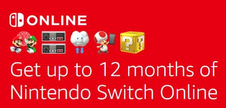 [Amazon] Free 12 month of Nintendo Switch Online