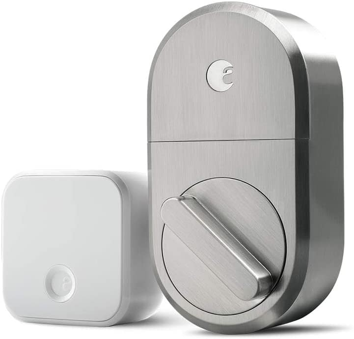 August Smart Lock + Connect WiFi (Satin Nickel) $139.99