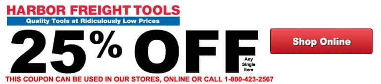 Harbor Freight 25 Off One Item Coupon Slickdeals Net
