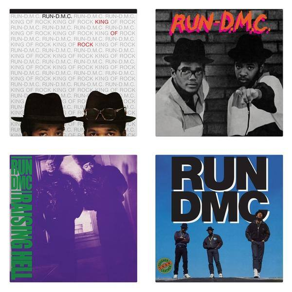 RUN-DMC - First 4 LPs on vinyl (Run-D.M.C., King Of Rock, Raising Hell, and Tougher Than Leather) $49.98