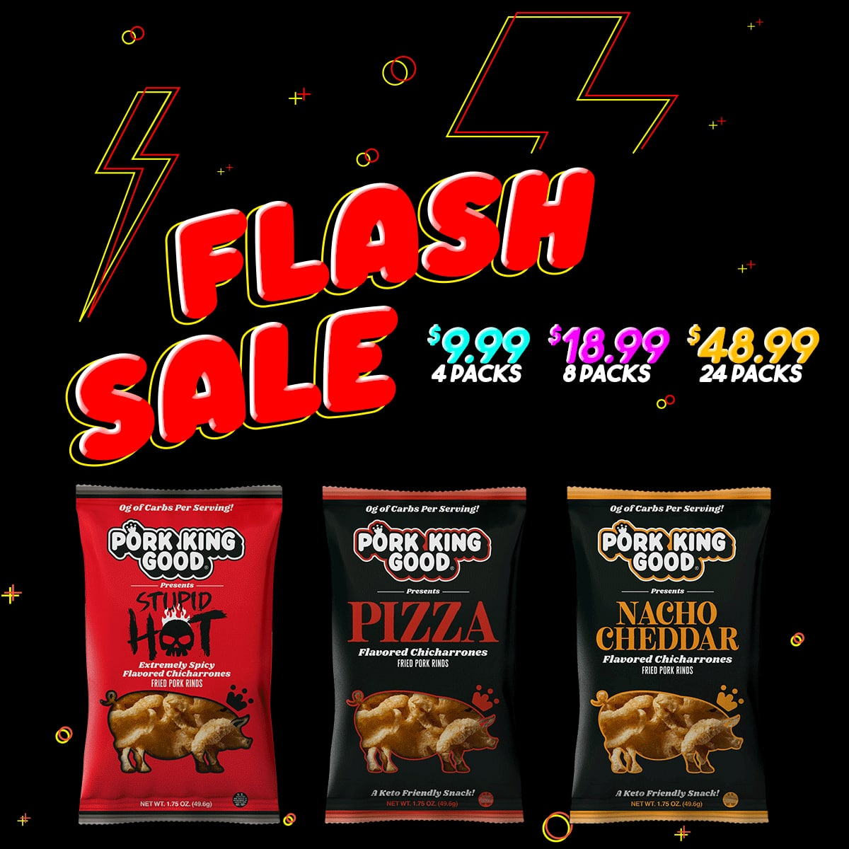 Pork King Good Flash Sale 30% Off Select Flavors Free Shipping $9.99