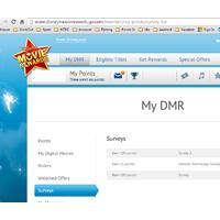 Deal: FYI: New DMR 100 points survey in your account. Disney Movie Rewards