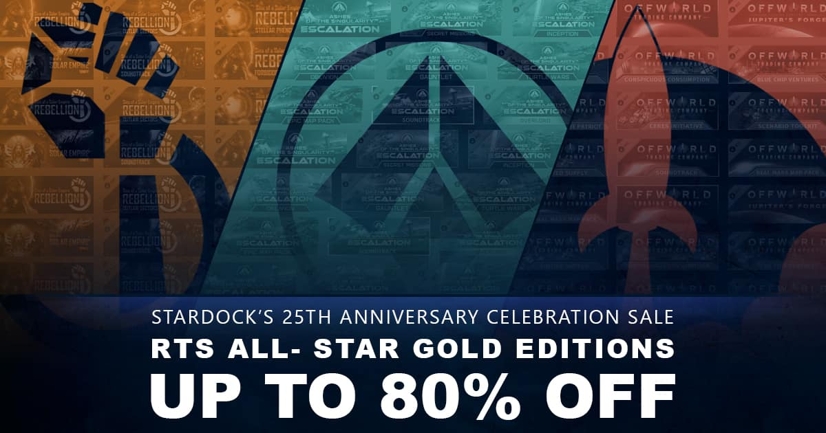 Stardock All-Star RTS (PCDD) Game Sale - Up to 80% Off