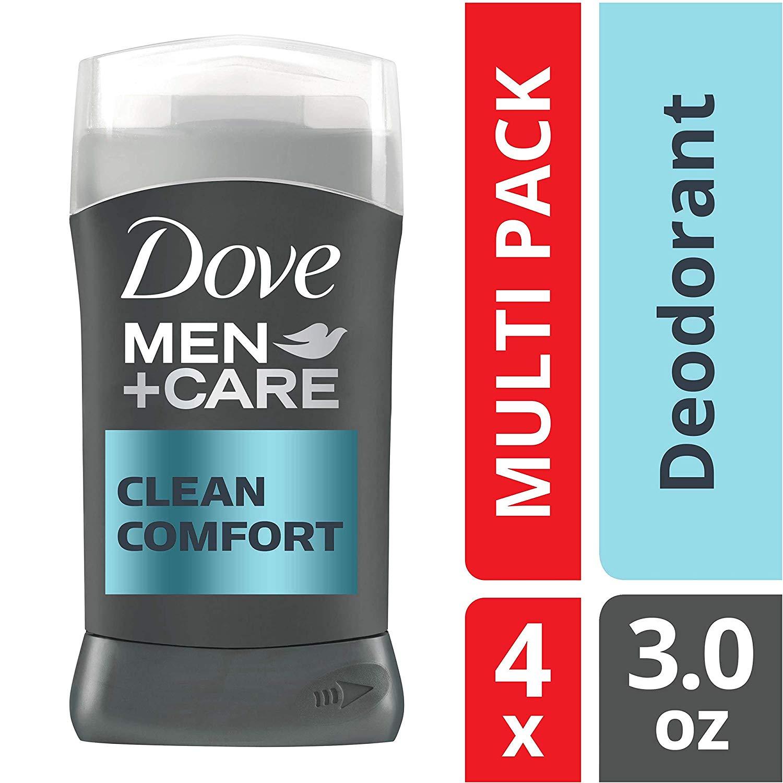 Dove Men+Care Deodorant Stick, 3 oz, 4 count [Clean Comfort] - $9.38 w/ S&S