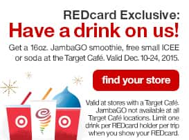 REDCard Exclusive: FREE 16oz JambaGO Smoothie at Target..... Dec 10-24, 2015