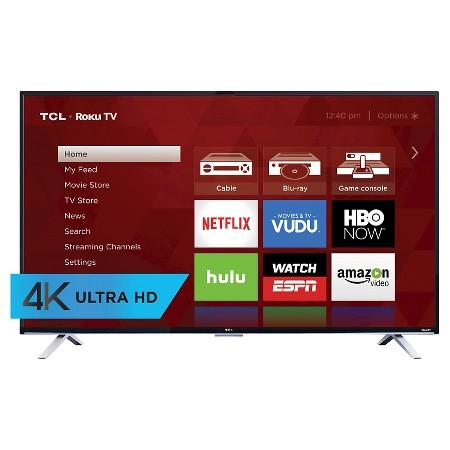 TCL 55'' 4k roku smart LED TV YMMV $350