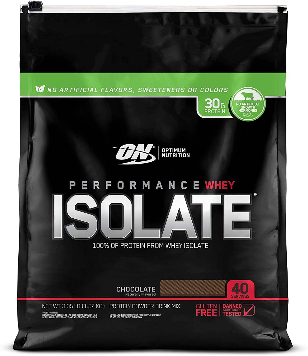 3.35-lbs Optimum Nutrition Performance Whey Isolate Protein Powder (Chocolate) $24.99