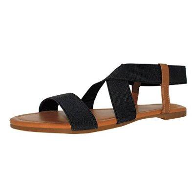Sandalup Women's Elastic Flat Sandals--Amazon Best Sellers Rank No1 in Flat--$9.99