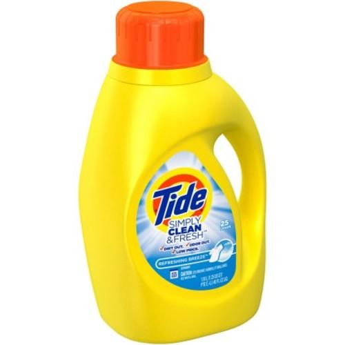 Tide Liquid Laundry Detergent, Refreshing Breeze, 25 Loads, 40 Fl Oz $2.94